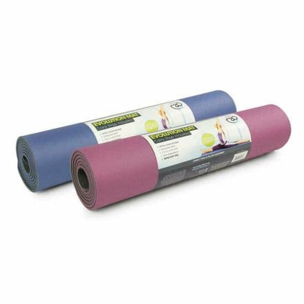 Fitness Mad Evolution Deluxe Yoga Mat 6mm With Carry Strap Gym Pilates